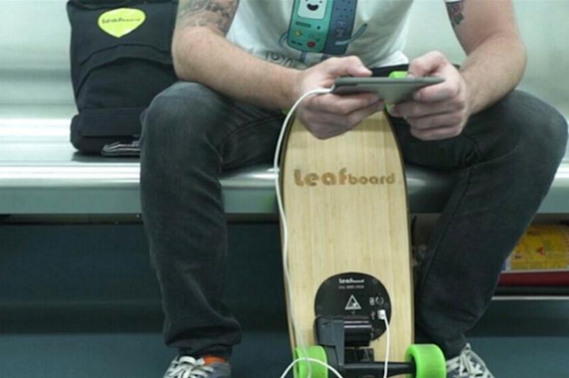 Leafboard electric skateboard kicks it up on your way to work