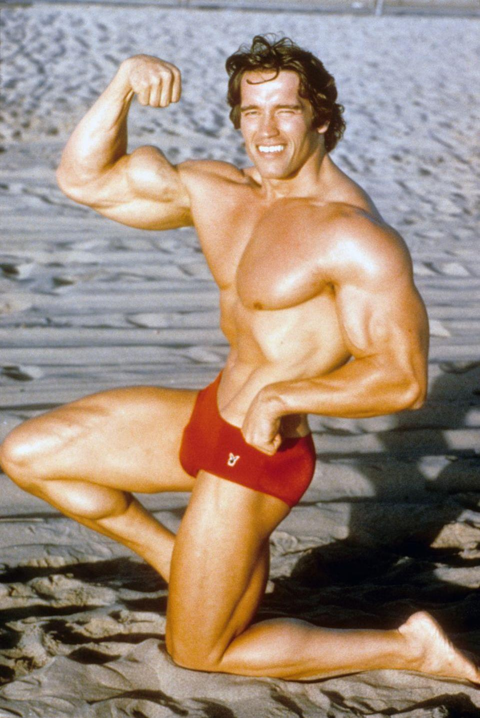 <p>In the '70s, Arnold Schwarzenegger made a name for himself as a professional <del>flexer</del> bodybuilder. He'd soon turn his hard work into box office gold as the star of <em>The Terminator.</em></p>