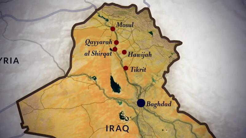 Iraq ISIS Mosul Map