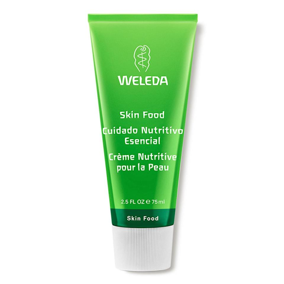 """<p>Weleda's Skin Food Original Ultra-Rich Cream is thick, buttery, and one of the best moisturizers <em>Allure</em> contributor <a href=""""https://www.allure.com/contributor/kaleigh-fasanella?mbid=synd_yahoo_rss"""">Kaleigh Fasanella</a> has found for her perennially parched, easily irritated skin. Both supremely soothing and hydrating, thanks to ingredients like sweet almond oil, beeswax, and calendula flower extract, it feels almost like a weighted blanket for the skin — without being too heavy or suffocating. Apply it and be amazed at how quickly it alleviates signs of stress like redness and flaking. Oh yeah, and did we mention it's got <a href=""""https://www.allure.com/story/rihanna-weleda-skin-food-moisturizer?mbid=synd_yahoo_rss"""">Rihanna's seal of approval</a>? Enough said.</p> <p><strong>$12</strong> (<a href=""""https://shop-links.co/1689256525102993280"""" rel=""""nofollow"""">Shop Her</a>)</p>"""