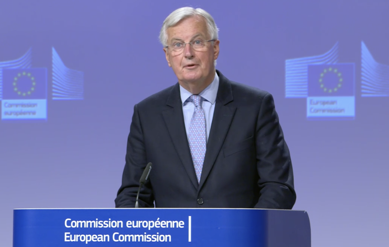 Michel Barnier said on Friday that there has been no progress following the latest round of Brexit talks between the EU and UK. (European Commission)