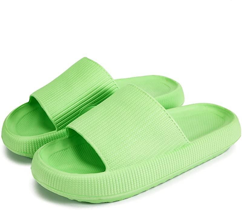 <p><span>Pillow Slides Slippers in Lime Green</span> ($20)</p>