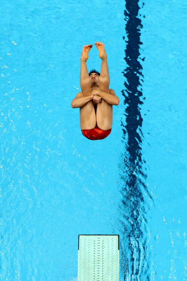 DELHI, INDIA - OCTOBER 11:  Alexandre Despatie of Canada competes in the Men's 3m Springboard Preliminary at Dr. S.P. Mukherjee Aquatics Complex during day eight of the Delhi 2010 Commonwealth Games on October 11, 2010 in Delhi, India.  (Photo by Matt King/Getty Images)