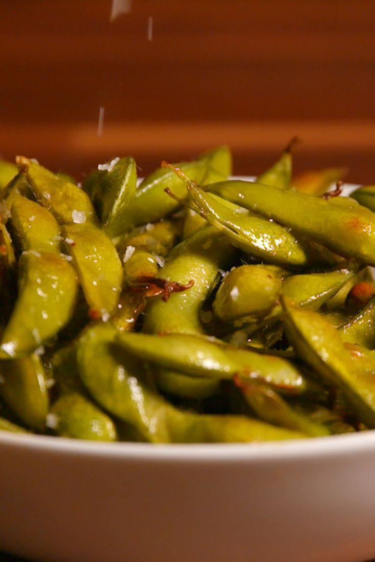 "<p>Edamame are soybeans, and they're most often served simply boiled and salted—a great way to snack on them. They're also easily tossed into stir-fries, thrown on top of salads, puréed and eaten on their own, or mixed into dips, like hummus. However you cook them up, these little beans have a big nutrition benefit; they have just under 10 grams of dietary fiber per 1/2-cup serving, healthy polyunsaturated and monounsaturated fats, and about 11 grams of protein, according to <a href=""http://www.webmd.com/food-recipes/features/edamame-secret"" rel=""nofollow noopener"" target=""_blank"" data-ylk=""slk:WebMD"" class=""link rapid-noclick-resp"">WebMD</a>, as well as some vitamin C, vitamin A, iron, and calcium.</p><p><strong>Recipe: <a href=""https://www.delish.com/cooking/recipe-ideas/recipes/a50807/roasted-edamame-recipe/"" rel=""nofollow noopener"" target=""_blank"" data-ylk=""slk:Roasted Edamame"" class=""link rapid-noclick-resp"">Roasted Edamame</a></strong></p>"