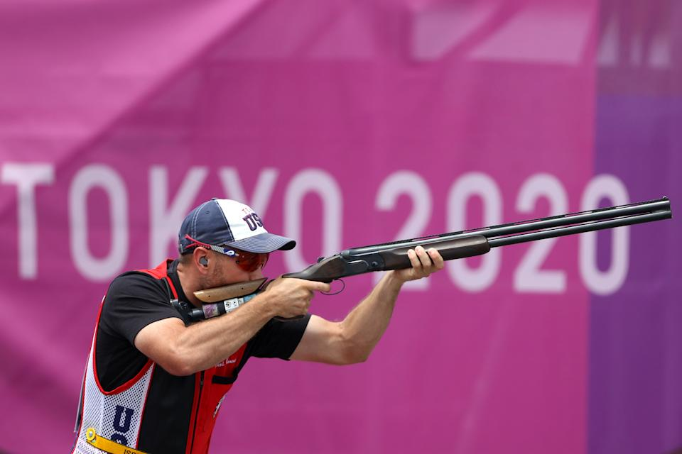 Vincent Hancock shot his way to a third gold medal.  (Kevin C. Cox/Getty Images)