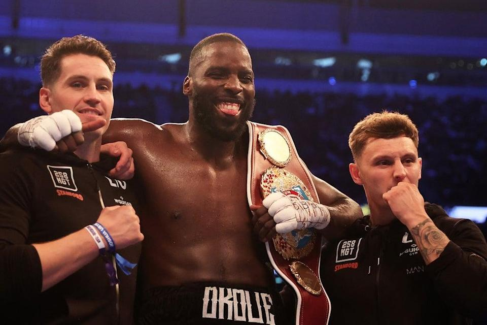 Lawrence Okolie provided the first defence of his WBO cruiserweight title  (Getty Images)
