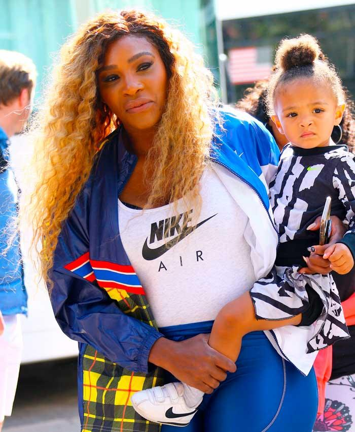 Serena Williams y su hija Alexis Olympia