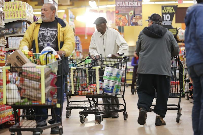 Seniors shopping for groceries saw their bills paid for by a mystery 'angel'. Source: Getty