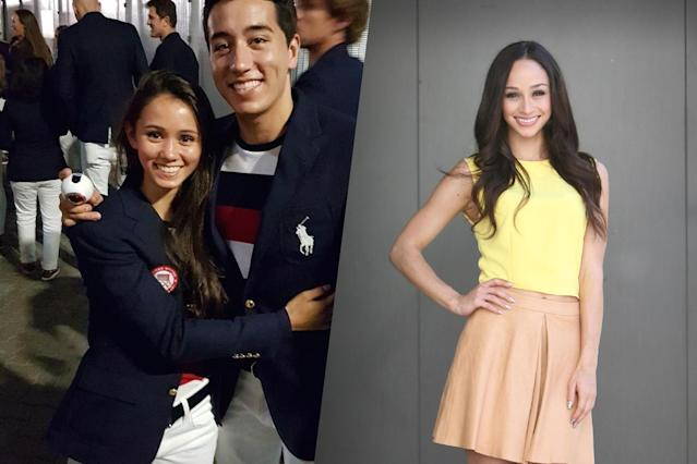 <p>American fencer Lee Kiefer (left) and model and actress Cara Santana (right). </p>