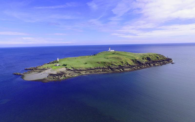 Little Ross Island, off the coast of south west Scotland, is up for sale with a price tag of £325,000 - Galbraith/SWNS.com
