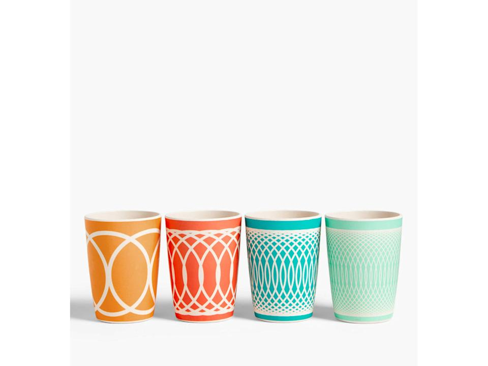 Sip on yourproseccoor smoothies in this colourful set of tumblersJohn Lewis and Partners