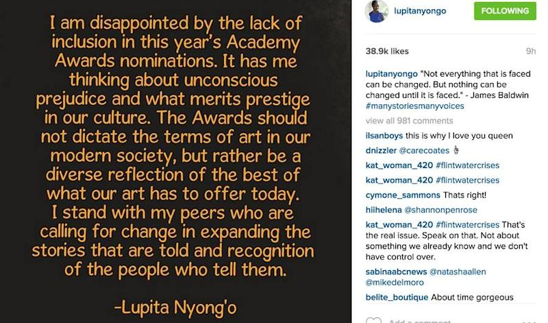 Lupita Nyong'o Just Schooled Everyone on the Oscars and Racial Prejudice