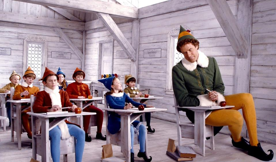 """<p><strong>Netflix's Description:</strong> """"Buddy the Elf doesn't fit in with the other North Pole elves, so he travels to New York to find his real father and spread some Christmas cheer.""""</p> <p><a href=""""https://www.netflix.com/title/60031255"""" class=""""link rapid-noclick-resp"""" rel=""""nofollow noopener"""" target=""""_blank"""" data-ylk=""""slk:Stream Elf on Netflix!"""">Stream <strong>Elf</strong> on Netflix!</a></p>"""