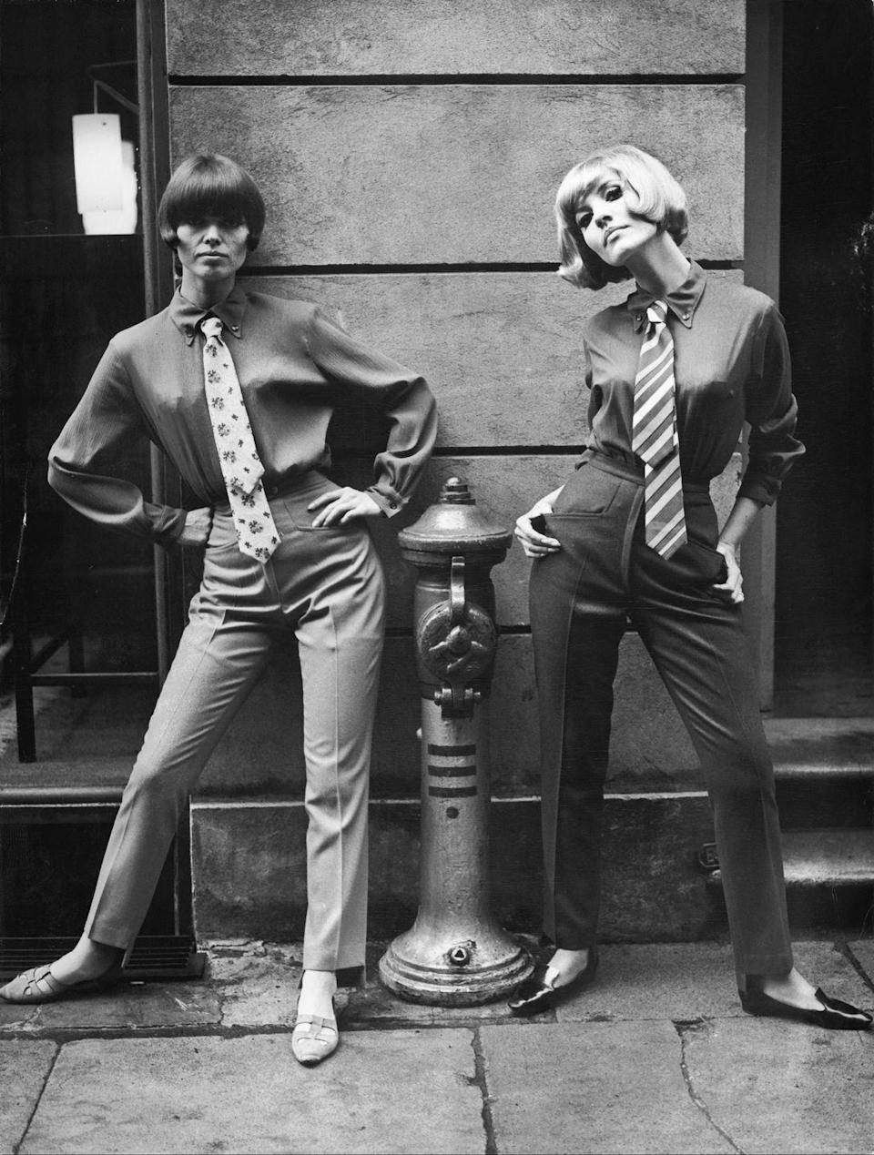 <p>The '60s became a time for women to express themselves through clothing, which meant wearing pants more regularly, an item once taboo for women. </p>