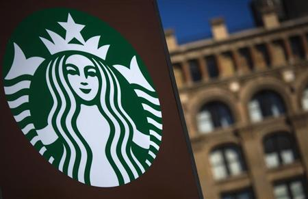 A Starbucks store is seen in New York