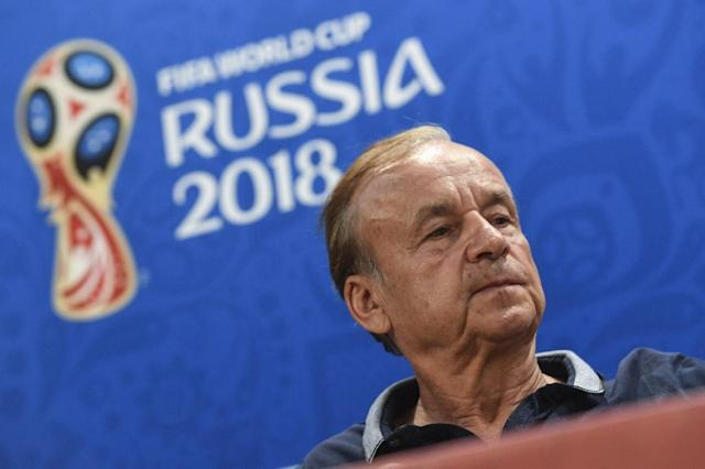 Nigeria's coach Gernot Rohr reiterated that he thought his side had been unlucky to lose their opener and had played well (AFP Photo/Mark RALSTON)