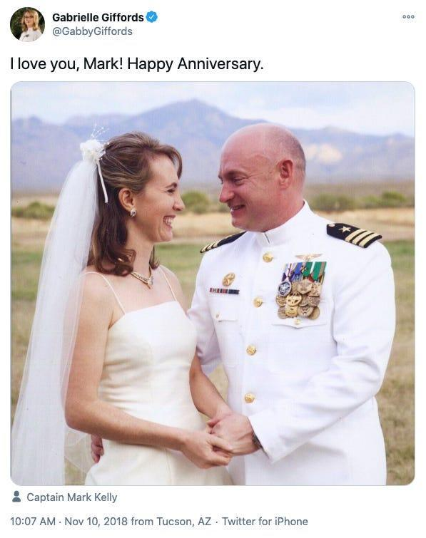 mark kelly gabby giffords wedding