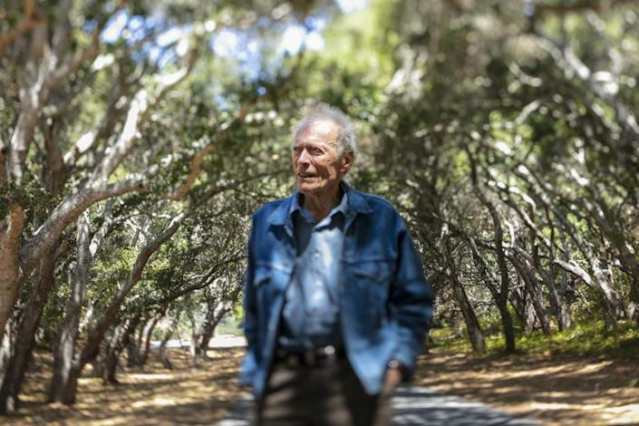 Oscar-winning director Clint Eastwood, 91, is photographed with a tilt-shift lens, on the grounds of his Tehama Golf Club