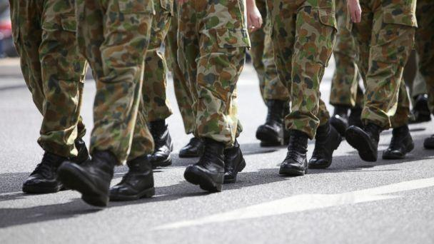 PHOTO: Soldiers in boots are pictured marching in uniform in this undated stock photo. (STOCK PHOTO/Getty Images)