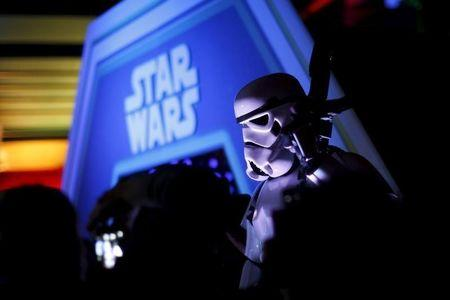 """A character in costume takes part of an event held for the release of the film """"Star Wars: The Force Awakens"""" in Disneyland Paris"""