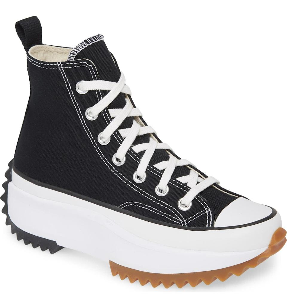 <p>If you're feeling bold, go for these <span>Converse Chuck Taylor All Star Run Star Hike High Top Platform Sneakers</span> ($110), which will add a pep in your step.</p>