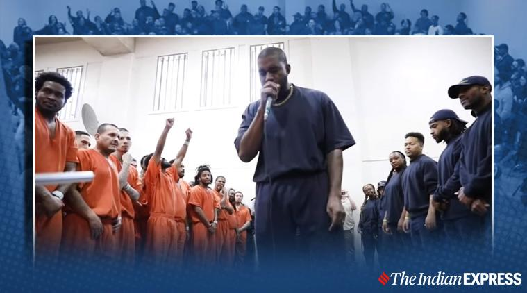 Kanye West performs for inmates inside Houston jail, Kanye West, Kanye West viral video, kanye west jail video