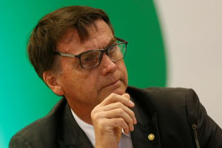 Brazil's President-elect Jair Bolsonaro attends a meeting with governors-elect in Brasilia