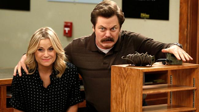 ron swanson and leslie knope parks and rec