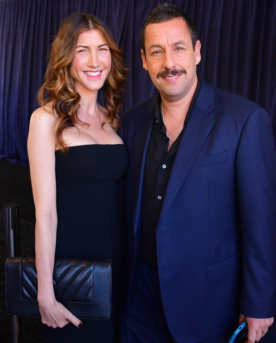 SANTA MONICA, CALIFORNIA - FEBRUARY 08: Jackie Sandler and Adam Sandler attend the 2020 Film Independent Spirit Awards on February 08, 2020 in Santa Monica, California. (Photo by George Pimentel/Getty Images)