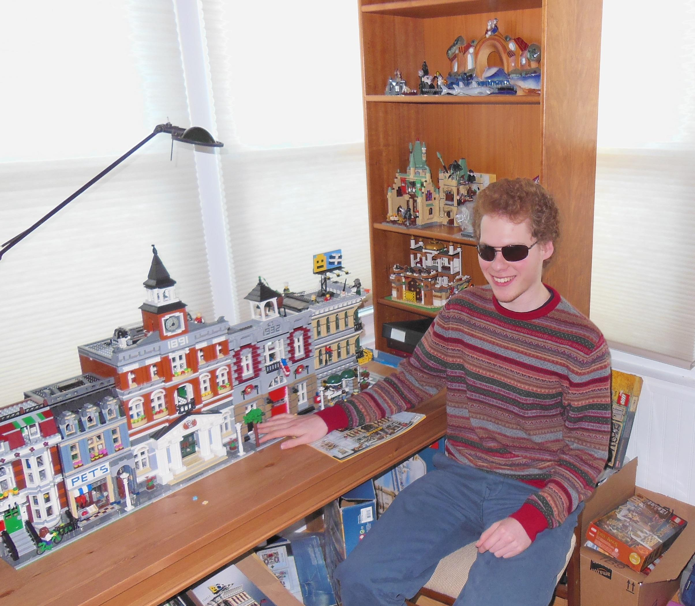 Matthew Shifrin created a website called LEGO for the Blind, which offers text-based instructions for blind LEGO builders. (Photo: Courtesy of Matthew Shifrin)