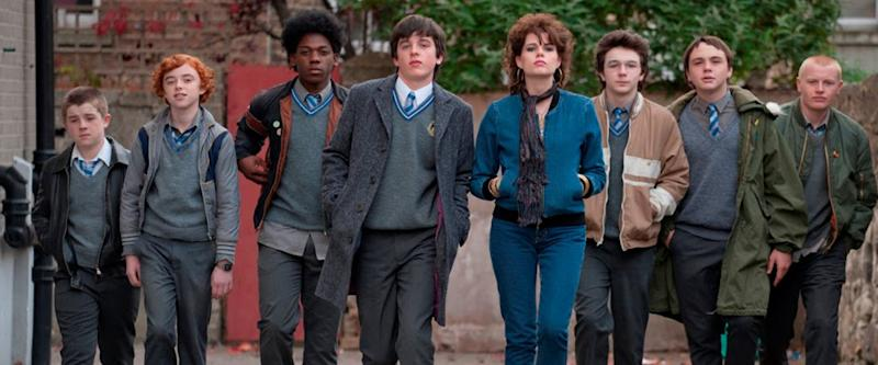 The young cast of 'Sing Street'. (Credit: Lionsgate)