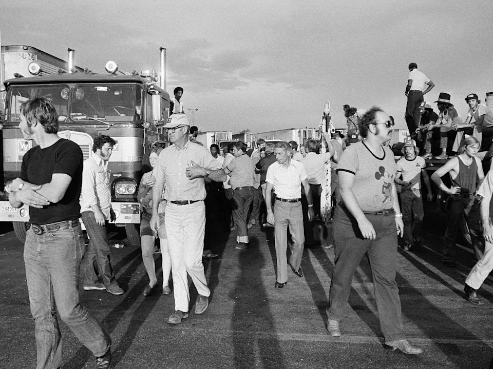 A truck drivers' strike in 1979.