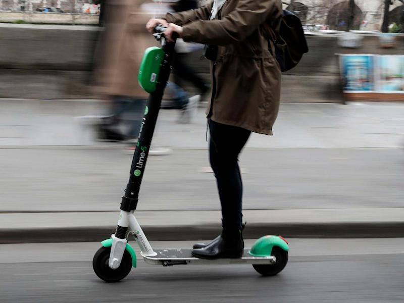Electric scooter in use in Paris: Getty