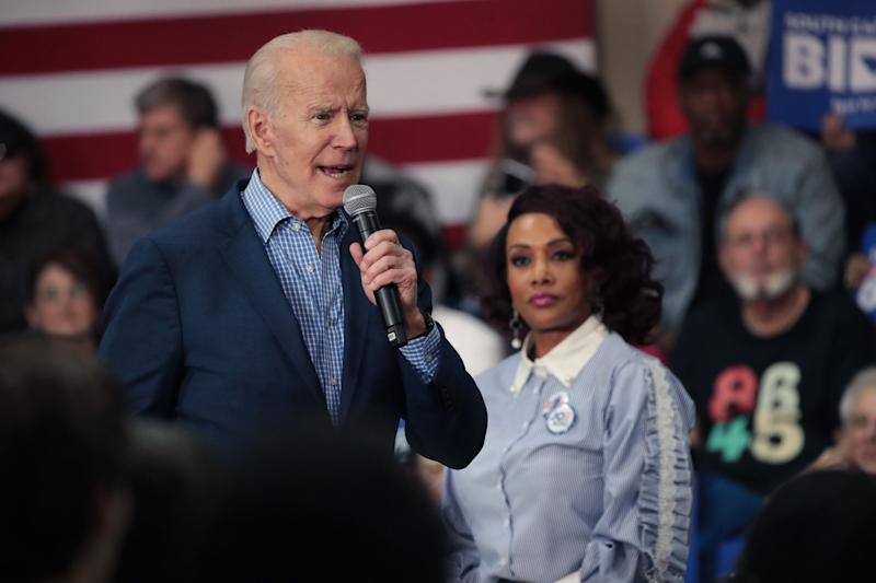 As Joe Biden campaigned recently in South Carolina -- a must-win state for him -- those helping promote his candidacy included actor Vivica Fox. (Photo: Scott Olson via Getty Images)