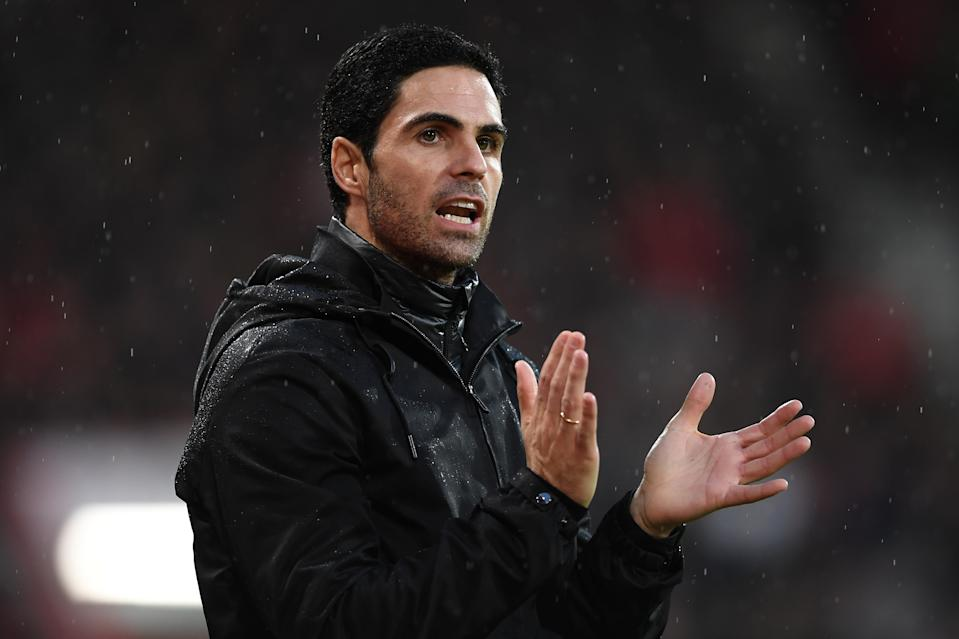 Arsenal came back from a first-half deficit to salvage a point against Bournemouth in Mikel Arteta's debut as manager. (Harriet Lander/Getty)
