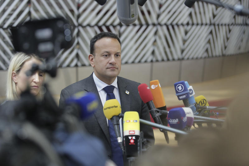 Leo Eric Varadkar the Irish politician serving as Taoiseach, Minister for Defense, and Leader of Fine Gael of Ireland attending the European Council in Brussels, Belgium, EU on June 20, 2019 (Photo by Nicolas Economou/NurPhoto via Getty Images)