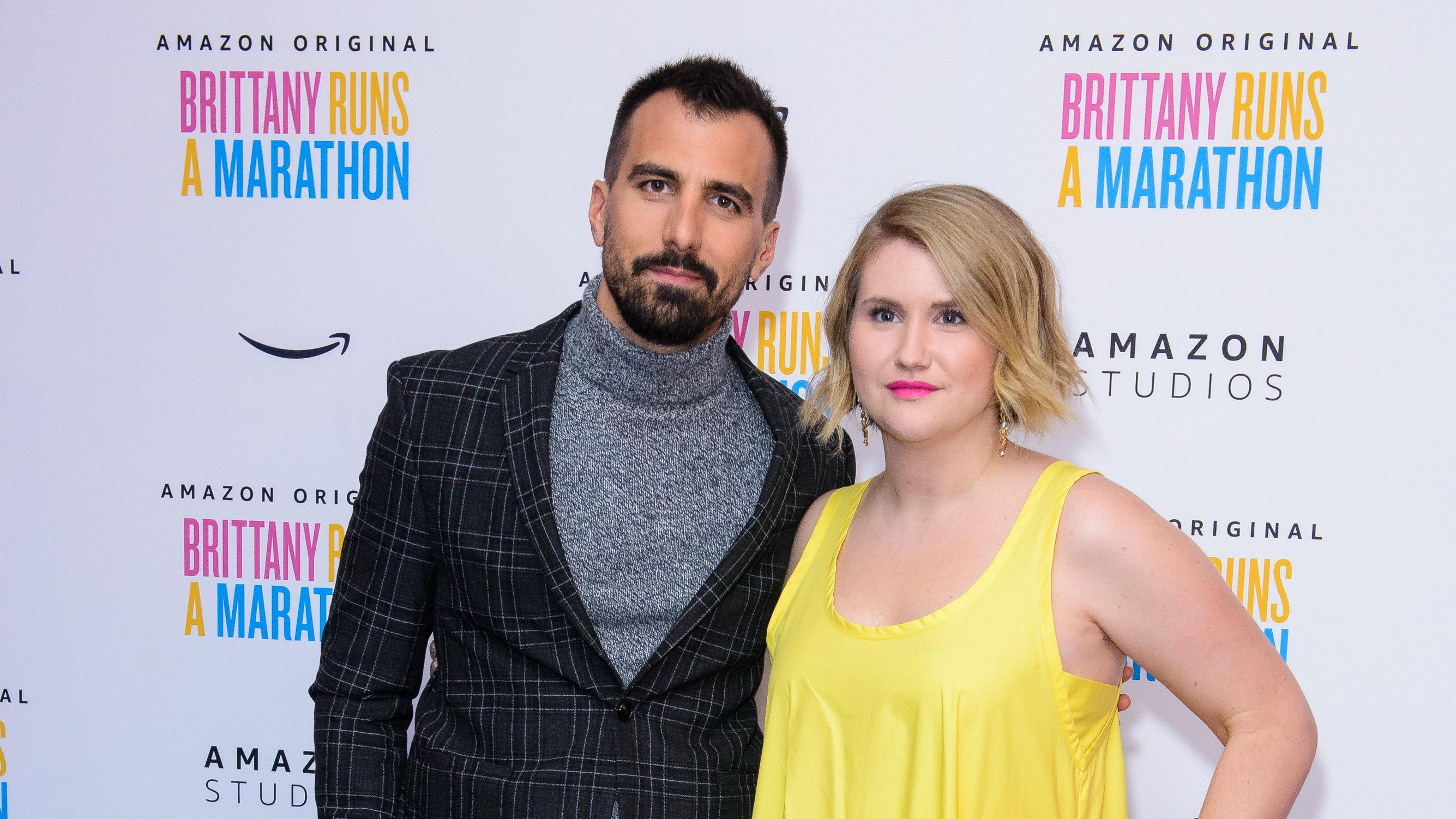 "Paul Downs Colaizzo and Jillian Bell attend ""Brittany Runs a Marathon"" UK Premiere on October 23, 2019. (Photo by Joe Maher/Getty Images)"