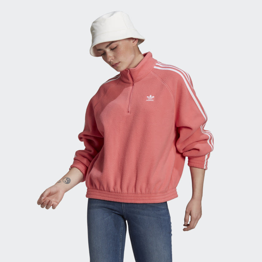 Adidas Classics Polar Fleece Half-Zip Sweatshirt - $95