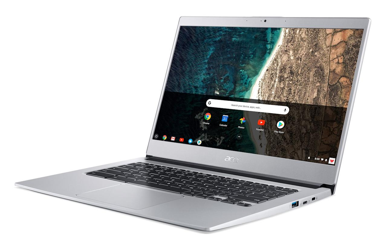 """<p>If you're looking for a Chromebook (that runs Google Chrome OS) rather than a traditional laptop, your search is over. Acer's Chromebook 514 will power you through those late nights with a backlit keyboard that lets you keep typing even after your roommate's gone to bed. Plus, the 12-hour battery life means you can keep working without stopping to recharge. And did we mention how sleek the all-aluminum design looks?</p> <p><strong>To buy: </strong>Acer Chromebook 514, $500, <a href=""""https://www.acer.com/ac/en/US/content/model/NX.H1LAA.003"""" target=""""_blank"""">acer.com</a>. </p>"""
