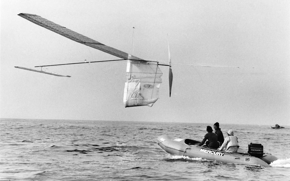 Californian Bryan Allen completed the man-powered Channel crossing in 1979