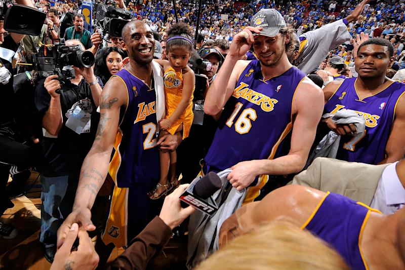 Pau Gasol, wife honor Kobe Bryant's family with new daughter's name