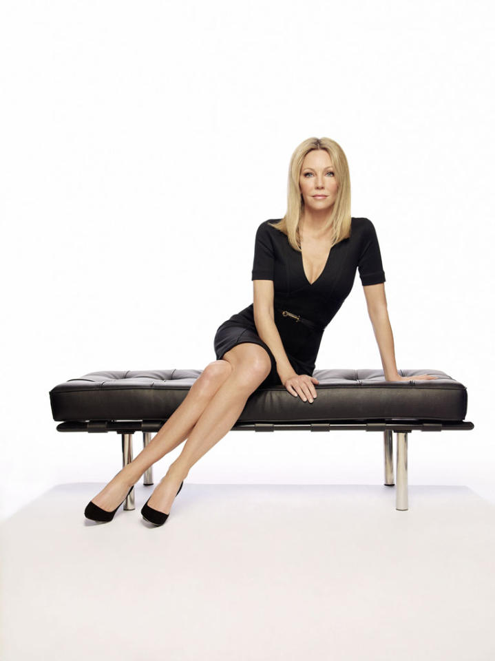 "Heather Locklear in Season 3 of TNT's ""Franklin & Bash."""