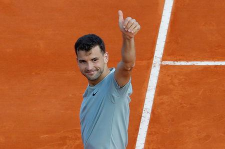 Tennis - ATP - Monte Carlo Masters - Monte-Carlo Country Club, Monte Carlo, Monaco - April 17, 2018   Bulgaria's Grigor Dimitrov celebrates winning his second round match against Pierre-Hugues Herbert of France   REUTERS/Eric Gaillard