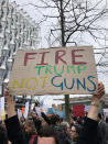 <p>A sign at the protest in London.<br> (Photo: Erin Donnelly for Yahoo Lifestyle) </p>