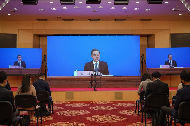 Image: Chinese Foreign Minister Wang Yi Holds Video News Conference (Andrea Verdelli / Getty Images)