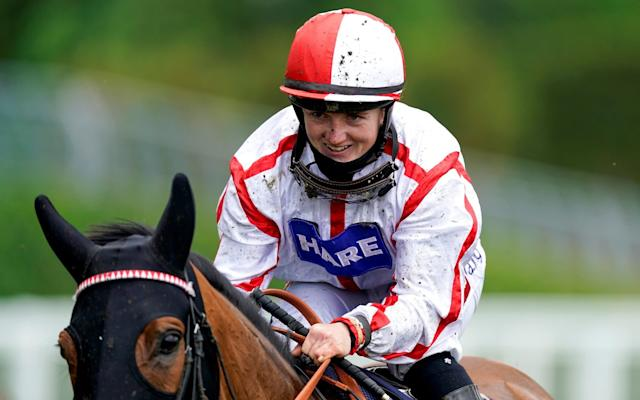 Hollie Doyle riding Scarlet Dragon after winning the 16:40 Duke Of Edinburgh Stakes - REUTERS