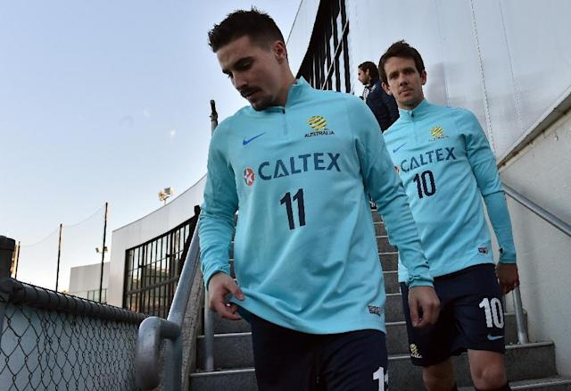 Jamie Maclaren has been called up by Australia as injury cover and has a chance to make their final World Cup squad (AFP Photo/SAEED KHAN)