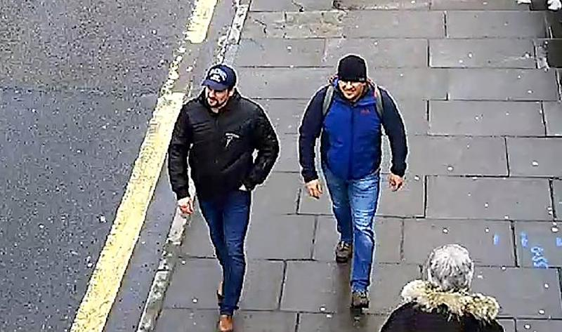EU foreign ministers will formally sign off on restrictive measures against one entity and nine individuals, including the two men (pictured March 2018) accused of poisoning former Russian spy Sergei Skripal and his daughter in Salisbury, England (AFP Photo/HO)