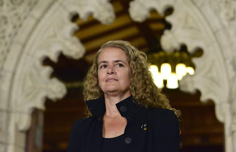 Julie Payette is facing questions about her past following recent news revelations. Photo from CP Images