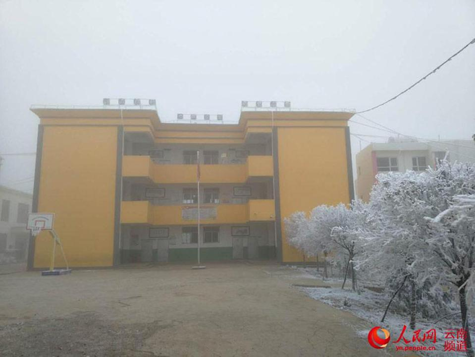 The school in China attended by the boy (Picture: Asia Wire)